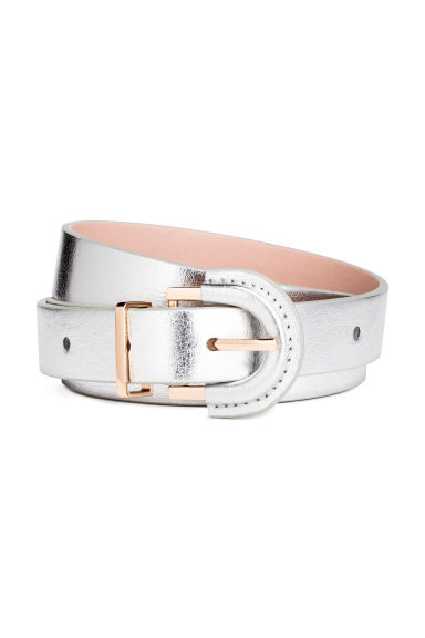 Narrow belt - Silver - Ladies | H&M CN 1