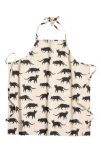 Patterned apron - Natural white/Cats - Home All | H&M CN 1