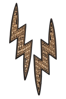 Lightning-shaped earrings