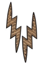 Lightning-shaped earrings - Gold/Black - Ladies | H&M 1