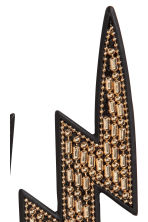 Lightning-shaped earrings - Gold/Black - Ladies | H&M 2