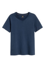 T-shirt scollo a V, 2 pz - Blu scuro -  | H&M IT 3