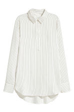 Striped blouse - White/Striped - Ladies | H&M GB 2