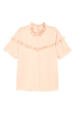 Blouse with frills - Powder -  | H&M CN 2