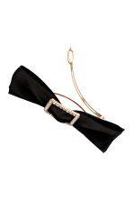 Hair clip with a bow - Black - Ladies | H&M 2