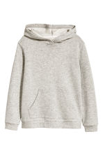 Glittery hooded top - Grey marl - Kids | H&M 1