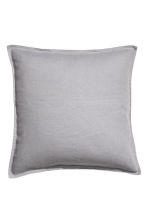 Linen cushion cover - Grey - Home All | H&M CN 1