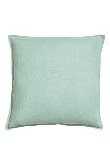Copricuscino in lino - Verde nebbia - HOME | H&M IT 1