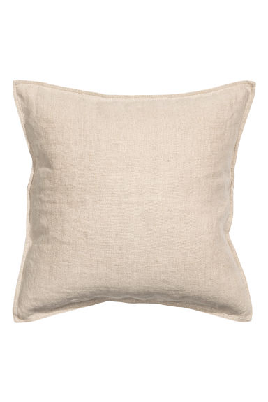 Linen cushion cover - Linen beige - Home All | H&M CN 1