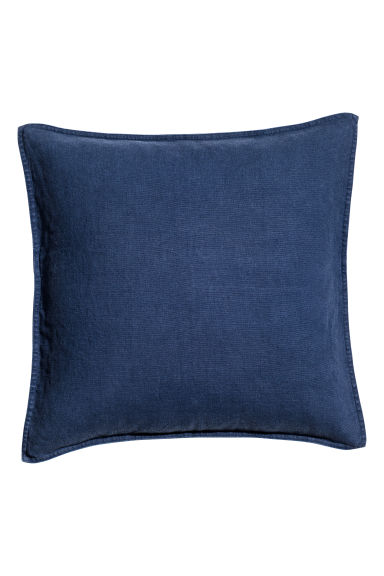 Copricuscino in lino - Blu scuro - HOME | H&M IT