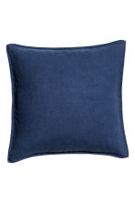 Copricuscino in lino - Blu scuro - HOME | H&M IT 1