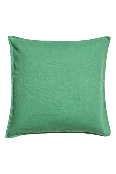 Linen cushion cover - Green - Home All | H&M CN