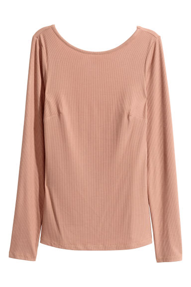 Ribbed top - Beige - Ladies | H&M 1