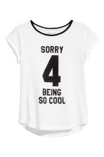Generous fit Jersey top - White - Kids | H&M CN 1