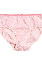 5-pack briefs - Light pink/Spotted - Kids | H&M CN 3