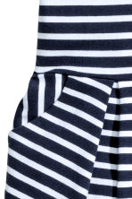 Short-sleeved jersey dress - Dark blue/Striped -  | H&M CN 4