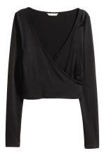 Wrapover top - Black -  | H&M CN 2