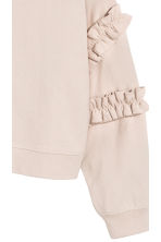 Sweatshirt with frills - Light beige - Ladies | H&M CN 3