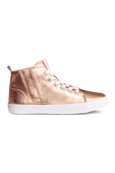 Coated trainers - Rose gold - Kids | H&M