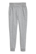 Joggers with creases - Grey marl - Ladies | H&M CN 2