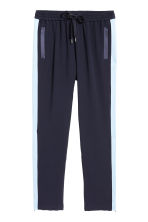 Pull-on trousers - Dark blue/Light blue - Ladies | H&M 2