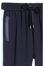 Pull-on trousers - Dark blue/Light blue - Ladies | H&M 3