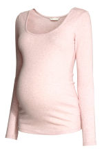 MAMA Long-sleeved top - Light pink marl - Ladies | H&M CN 2