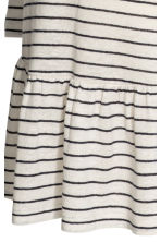 MAMA Linen-blend top - Natural white/Striped - Ladies | H&M CN 3
