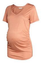 MAMA V-neck top - Beige - Ladies | H&M 2