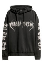 Printed hooded top - Black/Print - Men | H&M 2