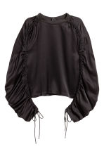 Top with drawstrings - Black - Ladies | H&M 2