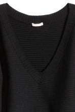 Rib-knit jumper - Black - Ladies | H&M 3