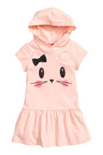 Hooded jersey dress - Powder pink - Kids | H&M 2