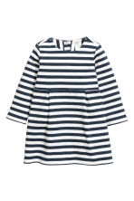 Striped jersey dress - Dark blue/Striped - Kids | H&M CN 1
