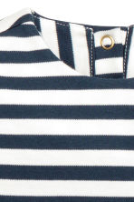 Striped jersey dress - Dark blue/Striped - Kids | H&M CN 3