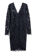 Lace dress - Dark blue - Ladies | H&M CN 2