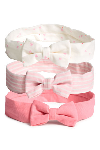 3-pack hairbands - Pink -  | H&M CN 1