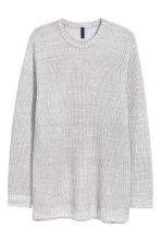 Ribbed jumper - Light grey marl - Men | H&M CN 2