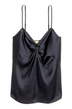 V-neck strappy top - Dark blue - Ladies | H&M 2