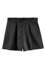 Satin shorts - Black - Ladies | H&M CN 2