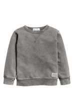Washed-look sweatshirt - Grey washed out -  | H&M 2