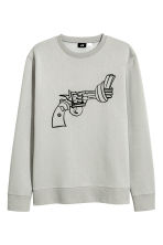 Print-motif sweatshirt - Light grey/Non-Violence - Men | H&M GB 2