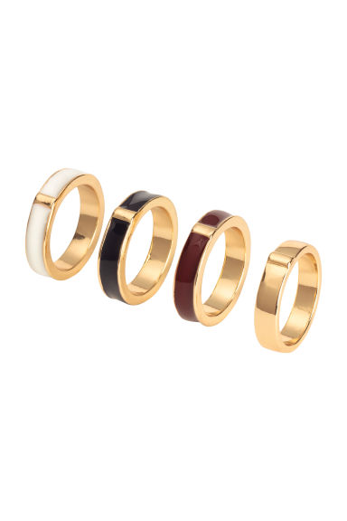 4-pack rings - Gold - Ladies | H&M CN