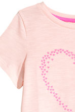 Printed top - Light pink/Heart - Kids | H&M CN 3