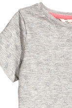 Printed top - Grey/Glitter -  | H&M 3