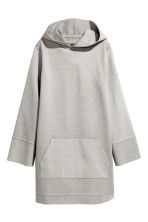 Hooded dress - Grey marl -  | H&M 2