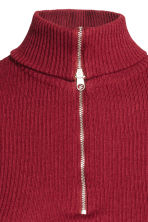 Polo-neck jumper with a zip - Dark red - Ladies | H&M 3