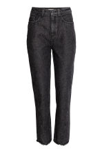 High waist Jeans - Black denim - Ladies | H&M CN 2