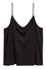 H&M+ Jersey strappy top - Black - Ladies | H&M 2