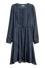 Jacquard-weave dress - Dark blue/Patterned - Ladies | H&M CN 2